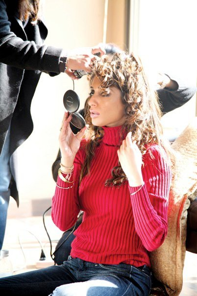 Iman Ali During an Ad Shoot