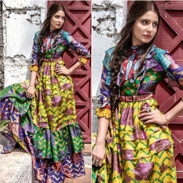 Anushka Sharma flaunted a multi coloured Gucci dress