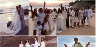 Sexy-Lisa-Haydon-beach-Wedding-Collage