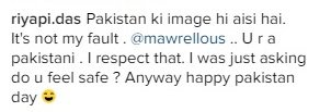 """Mawra Hocane Just Told Off An Indian Who Asked Her """"If She Feels Safe In Pakistan"""" 2"""
