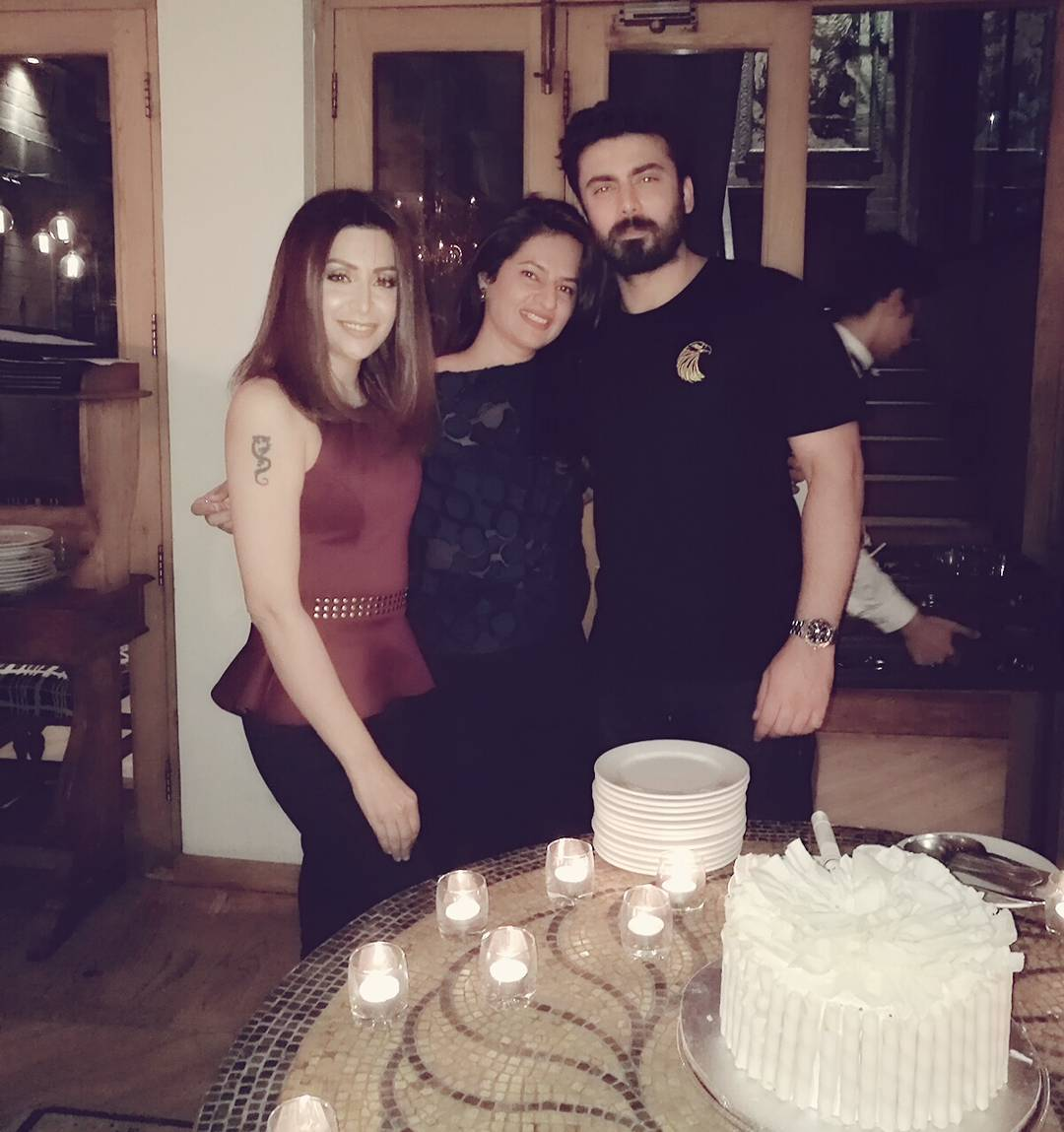 fawad khan birthday party for sadaf khan