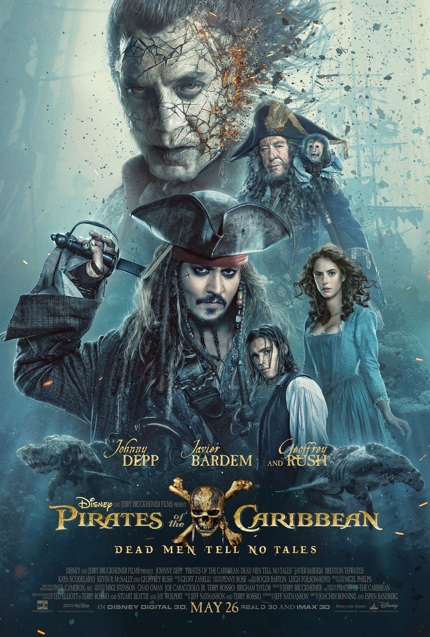 pirates of the carribbean 5 poster dead men tell no tales