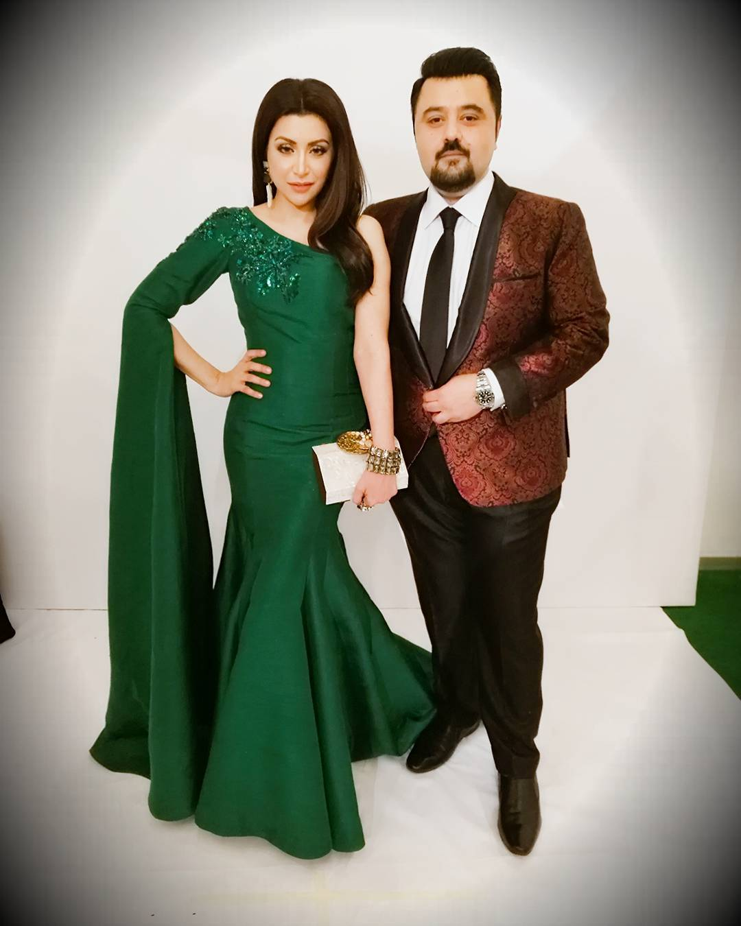 ahmed ali butt fatima khan hum awards 2017 red carpet pictures