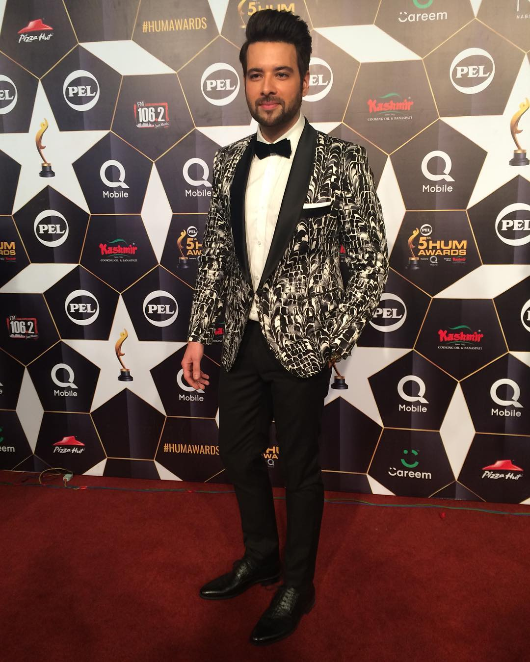 mikaal zulfiqar hum awards 2017 red carpet pictures