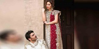 mahira and fawad in Rakhi's wedding