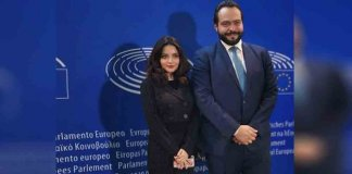 armeena rana khan in E.U Parliament