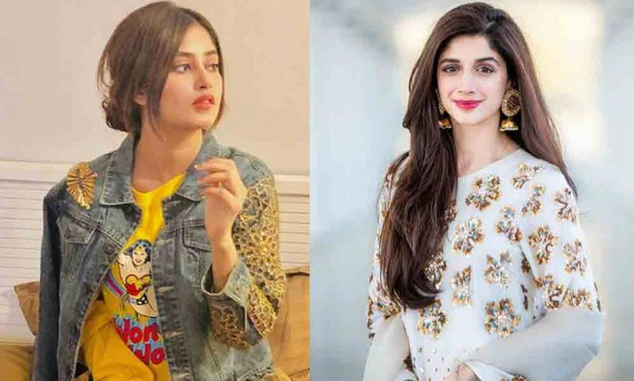 mawra and sajal in aangan