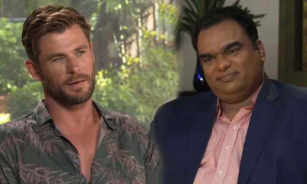 omair alavi with Chris Hemsworth